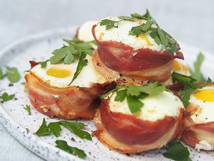 ägg och bacon muffins