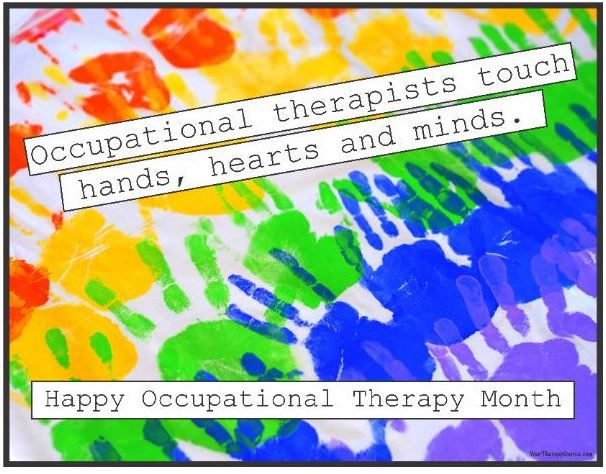 Instagram Post of the Week: OT Month Printable Poster- pinned by @PediaStaff – Please Visit  ht.ly/63sNt for all our pediatric therapy pins