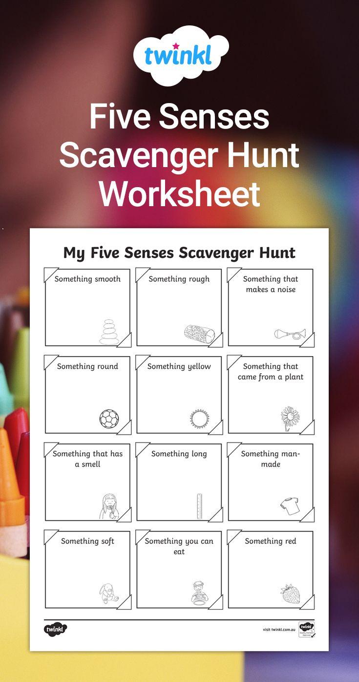 Five Senses Scavenger Hunt Worksheet My Five Senses Five Senses Worksheet Senses