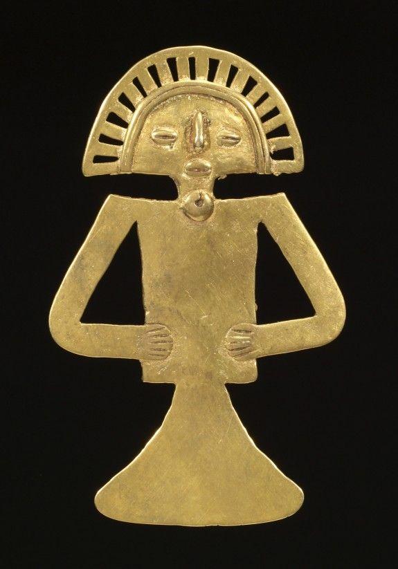 Figural Pendant,Ancient America's.Colombia-Tolima.ca.700-1000 (Pre-Colombian).