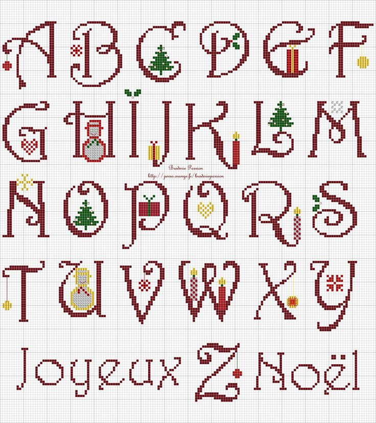 17 best images about filet crochet alphabet on pinterest - Alphabet noel ...