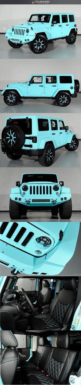 Starwood Motors Custom Tiffany Blue Jeep Wrangler..IM IN LOVE
