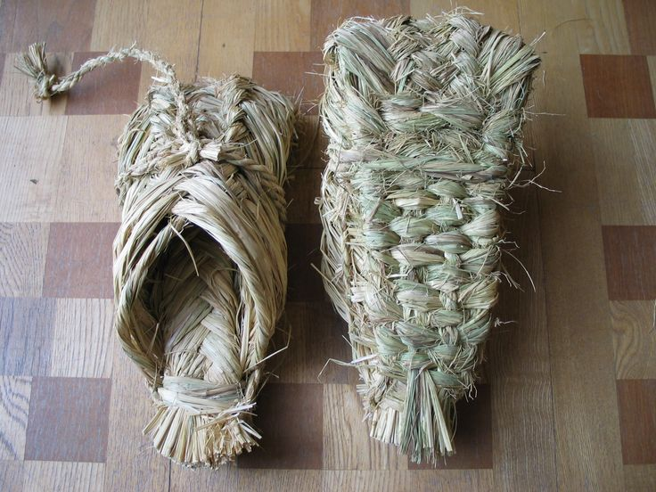 Traditional hand woven rice straw shoes, Aomori, Japan