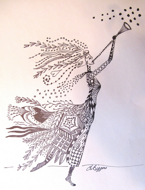 129 best images about Beautiful Zentangle WomenGirls on