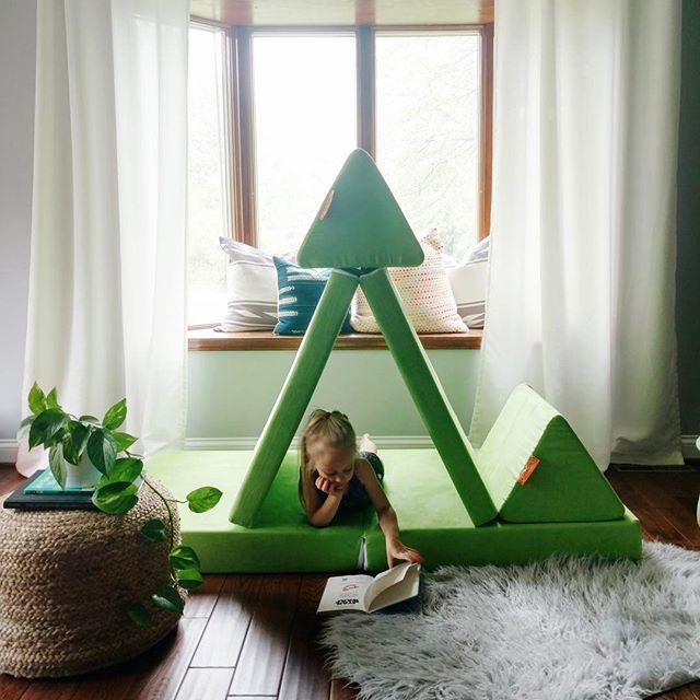 Lime Nugget - the four piece play couch for kids from www ...