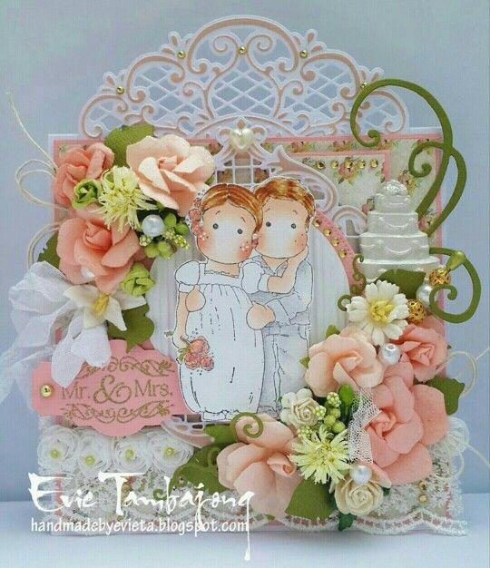 Magnolia stamp - wedding theme