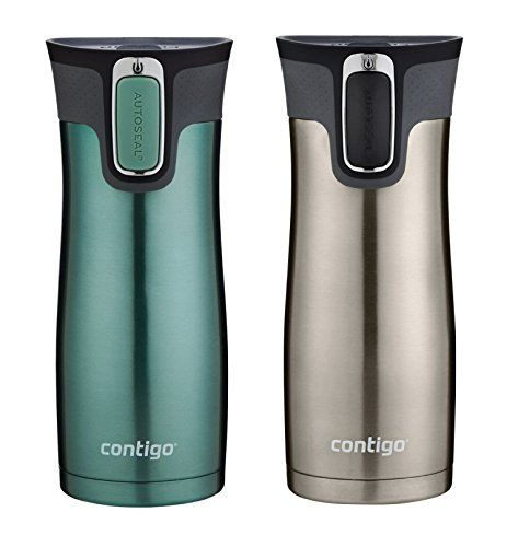 Contigo AUTOSEAL Travel Mug - Stainless Steel Vacuum Insulated Tumbler - 2 Pack (Green/Stainless Steel) Contigo http://www.amazon.com/dp/B002ALIR4S/ref=cm_sw_r_pi_dp_3MMHub1BWCR8T