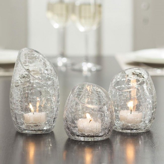 Transform your home with this lovely set of three tealight holders.  Just fill them up with tealights and make these elegant holders into a really impressive centrepiece! Display as singles or a set of three - they will add the perfect finishing touch to your home decor.