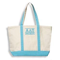 Alpha Delta Pi Line Boat Tote. www.sassysorority.com. #adpi #boattote #monogram #bidday  #recruitment #alphadeltapi #bidday #sororityletters #biglittlegift #sororitygift #canvasbags #greeklife