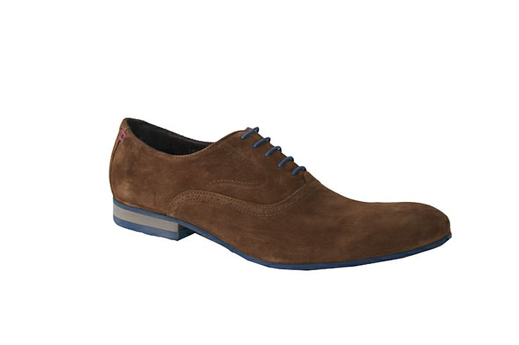 French designed men's oxford in tan/blue