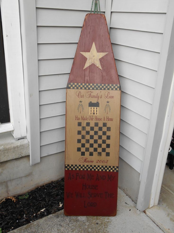 primitive painted ironing board