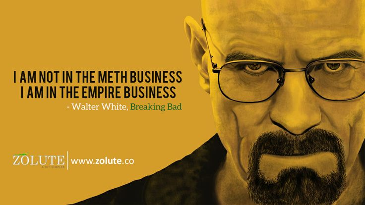 Breaking Bad Quote   Breaking Bad is an American crime drama, where Walter produces and sells meth(drug) to earn money in order to secure the financial future of his family