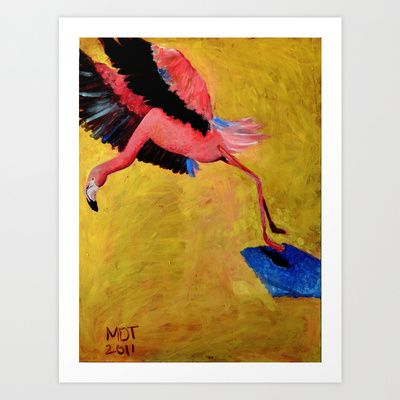 Främmande fågel - Odd Bird Art Print by Marie D.Tiger - $22.88