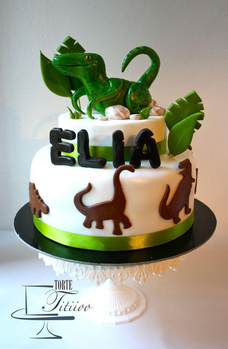 Torta con Dinosauro Velociraptor | Baby line Cakes nel ...