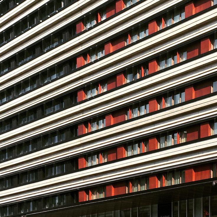 Details of Gioiaotto facade in Milan. @parkassociati #ParkAssociati #HinesItalia #Milano #LeedPlatinum #PortaNuova #PNSC #SmartCommunity #MarcoZanuso #PietroCrescini #Refurbishment #Architecture #Design #InteriorDesign #OfficeDesign #Gioiaotto #ContemporaryArchitecture #Grid #Glass #Installations #Fins #ColouredGlass #Steel #Timber #2012 #2014 #Facade #Office #Hotel #EntranceHall #RoofGarden #Giardino #Facciata #View #Terrace #Finestre #Ufficio #Terrazza
