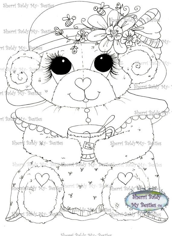 INSTANT DOWNLOAD Digital Digi Stamps Big Eye Big by SherriBaldy