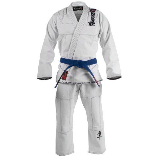 Hayabusa Pro Jiu Jitsu Gi White A3 Pjjg-wa3 by Hayabusa. $225.39. Long awaited and now finally here! The Hayabusa MMA gi is pushing the envelope when it comes to production innovation & design of jiu jitsu gis. This gi neither looks nor feels like any other BJJ gi we at MMA outlet have ever seen. The accents on this gi are not your basic patches and they're all embroidered so they'll last the lifetime of the gi. The pants have a unqiue four way stretch panel in the crotch for i...