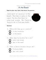 Easy Reading Comprehension - Going to Bed | Kids Learning Station