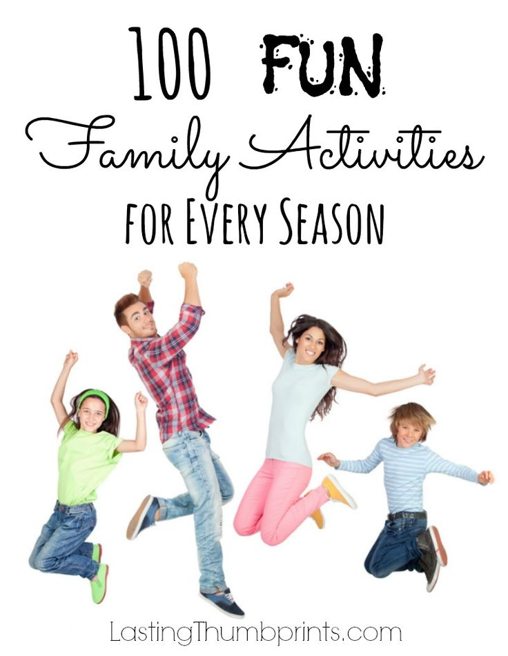 Looking for ways to have some family fun? Check out these 100 fun family activities for the whole year!
