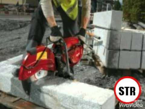 Алмазная резка бетона без пыли - YouTube