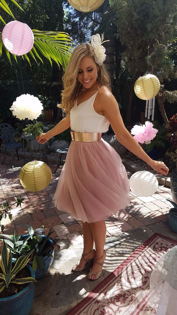 Fun + flirty in our tulle Sylvie skirt! Perfect for engagement parties or your summer bridesmaids! See more here: http://www.azazie.com/