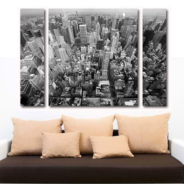 Manhattan πίνακας σε καμβά