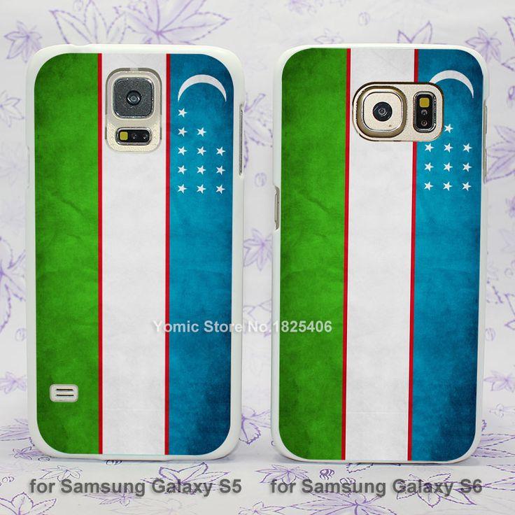 Uzbekistan flag hard White Skin Case Cover for Samsung Galaxy s3 s4 s4mini s5 s6 s6 edge