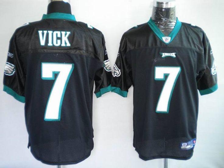 b911816fef7 ... Nike Philadelphia Eagles 7 Michael Vick Black Game Nike NFL Jerseys ...