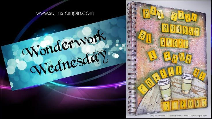 Coffee and Monday - Art Journal Page