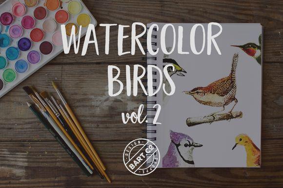 9 Watercolor Birds vol. 2 by BART.Co Design on @creativemarket