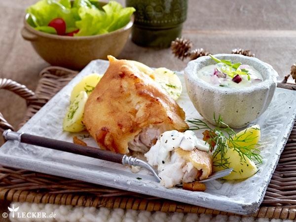 Mmmmmhhh, Backfisch mit selbstgemachter Remoulade!