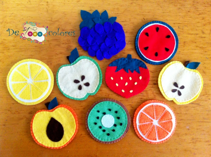 Felt Fruit Coasters
