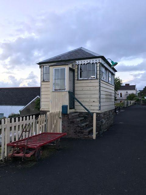 Cycling the Tarka Trail, restored signal box, Bideford, Devon #disused #railway #signalbox
