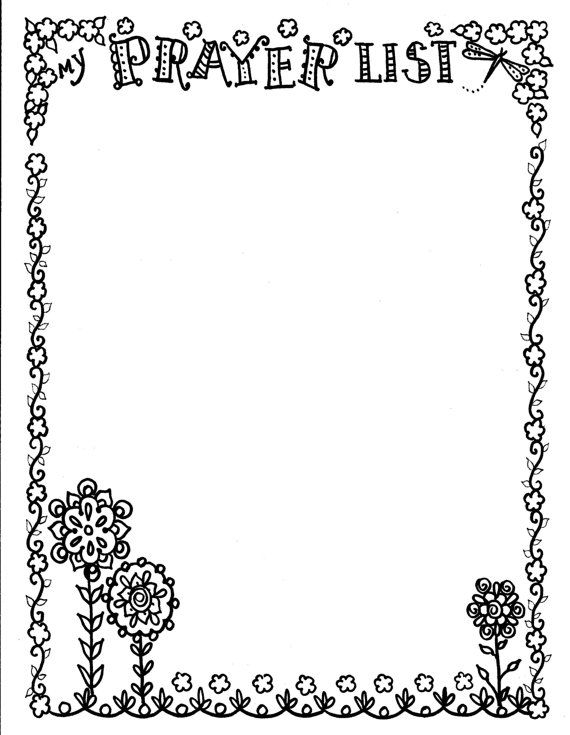 prayer journal coloring pages - photo#28
