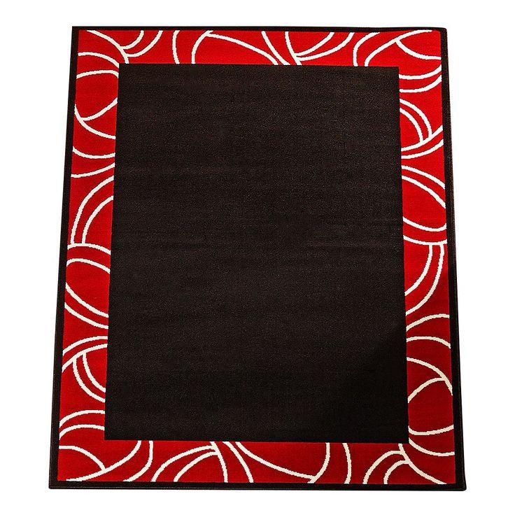 Teppich Prime Pile Bordüre - Schwarz/Rot - 80 x 150 cm, Hanse Home Collection Jetzt bestellen unter: https://moebel.ladendirekt.de/heimtextilien/teppiche/teppichboden/?uid=a3392b18-0efa-542e-89fd-906831ea2245&utm_source=pinterest&utm_medium=pin&utm_campaign=boards #accessoires #teppichboden #kurzflorteppiche #heimtextilien #teppiche