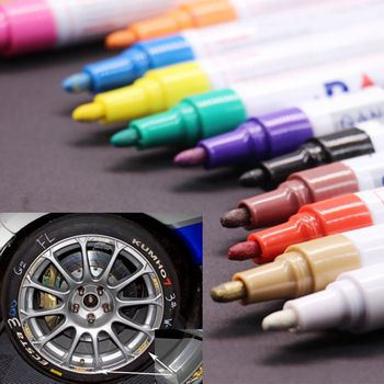 colorful Waterproof pen Car Tyre Tire Tread CD Metal Permanent Paint markers Graffiti Oily Marker Pen marcador caneta stationery  Price: 1.03 USD