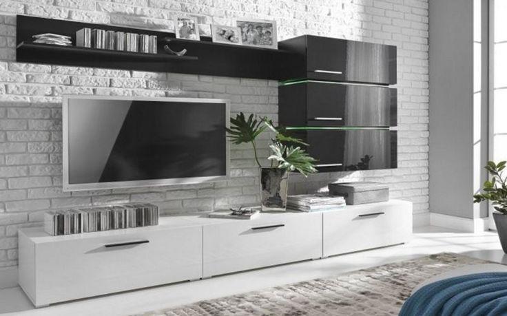 Living Room Furniture Unit Modern Set High Gloss TV Stand Cabinet Cupboard Wall