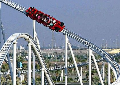 Formula Rossa Rollercoaster, Ferrari World, UAE. No, I'm not big into cars but I am big into rides. Especially when they are the world's fastest at a top speed of 240 km/h.