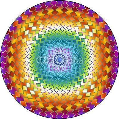 Mandala Hypnotic Circle-Vector © bluedarkat