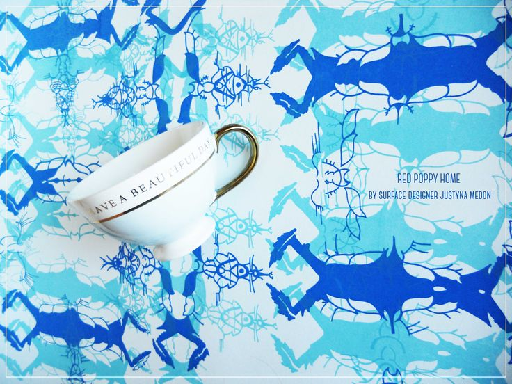 bespoke printed wallpapers and textiles www.justynamedon.com #textiles #wallpapers #handprinted #home decoration