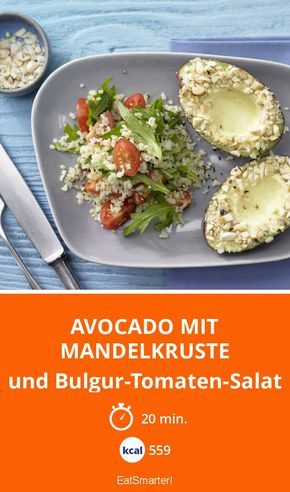 Avocado mit Mandelkruste - und Bulgur-Tomaten-Salat - smarter - Kalorien: 559 kcal - Zeit: 20 Min. | eatsmarter.de