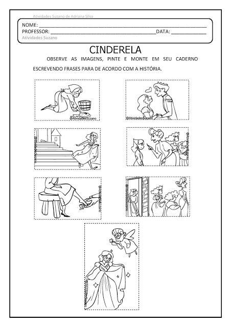 Producao De Texto Cinderela Em Pdf Com Imagens Atividades De