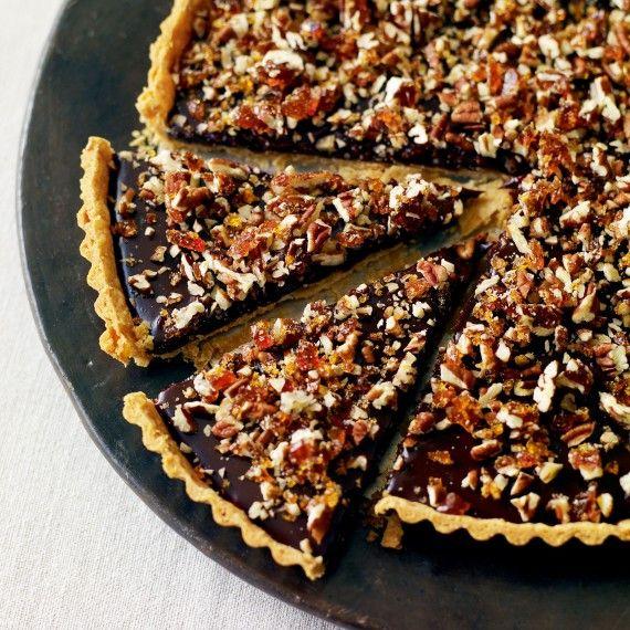 Classy chocolate: Intense chocolate, caramel and nut tart