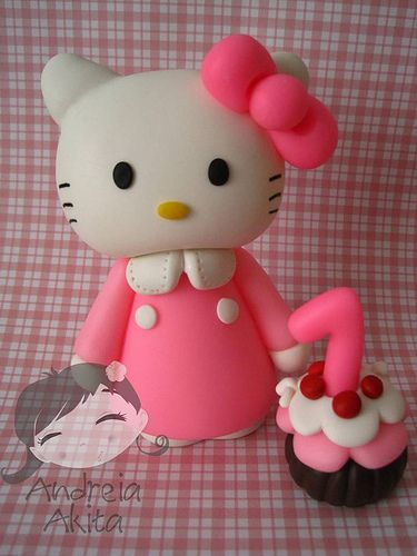 Hello Kitty com cupcake da Fabiane Ueda - São Vicente SP | Flickr - Photo Sharing!
