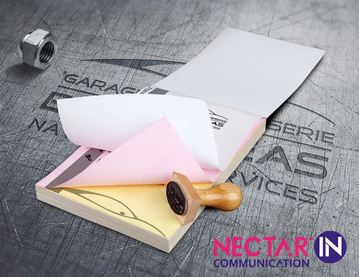 Bloc autocopiant pour Naves Auto Services. Création et impression.
