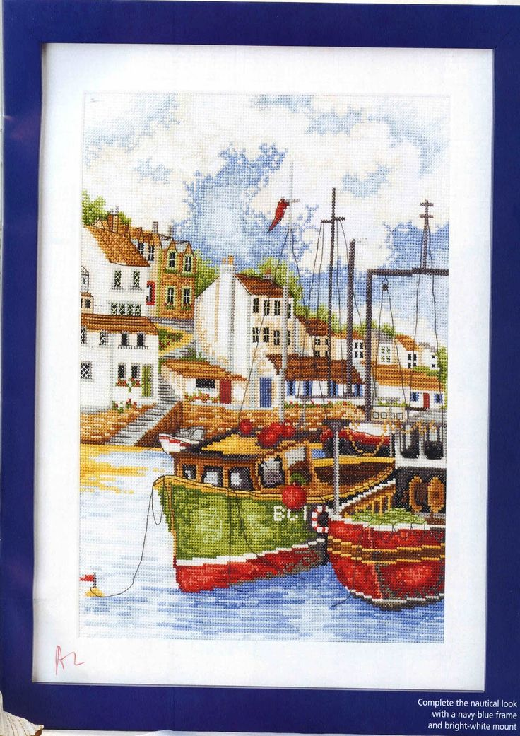 CURIOUS OWL: Cross Stitch Chart - Table Landscape Marine