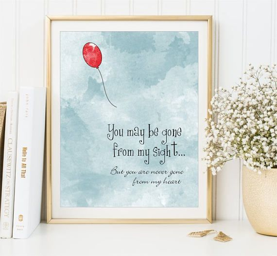 You may be gone from my sight Love Memory Watercolor Print