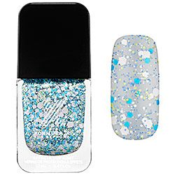 formula x for sephora - xplosives top coats in thunder - turquoise, lime, periwinkle and white confetti  #sephora