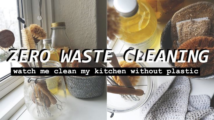 SUSTAINABLE CLEANING ROUTINE // watch me clean my kitchen zero waste style