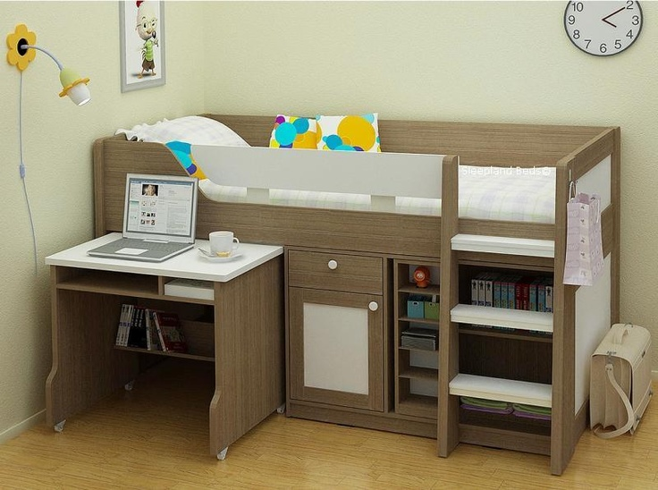 mid sleeper bed with desk 2